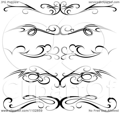 clipart black tribal tramp stamp tattoos or rule border