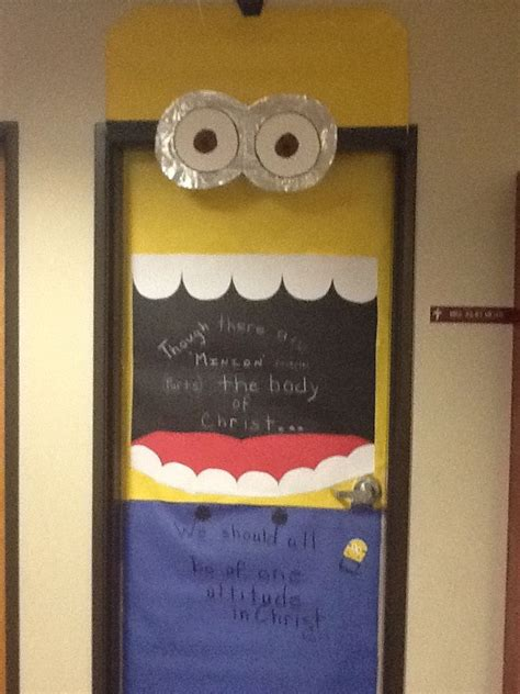 Decorating Ideas For Doors Minion Door Decoration Resident Assistant