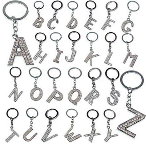 alphabet for keychains 26 letters keychain rhinestone alphabet
