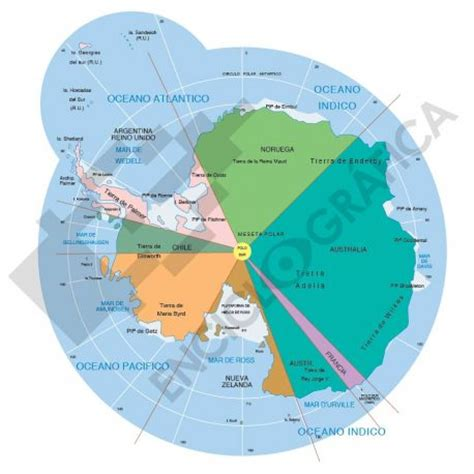 antarctica map with country names and capitals vector map of antarctica