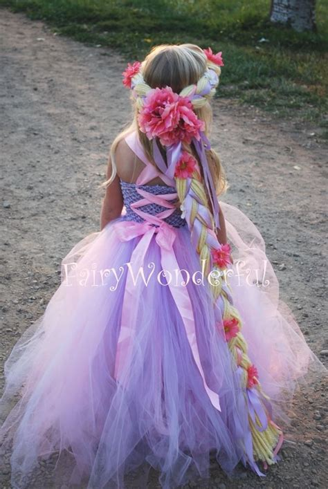 Kostum Natal 336 rapunzel inspired tutu dress