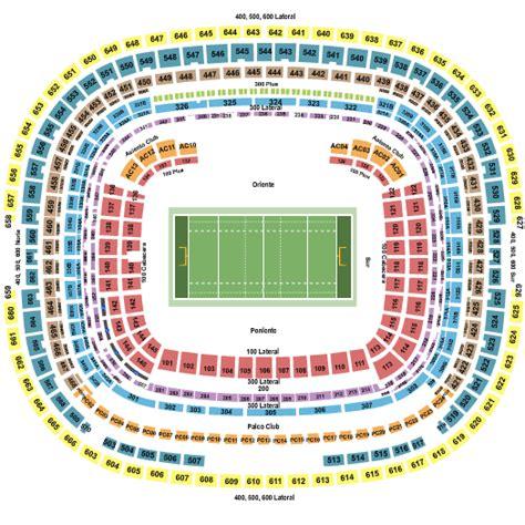 estadio azteca detailed stadium seating chart nfl mexico paul mccartney estadio azteca tickets paul mccartney