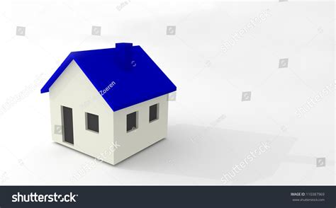 blue and white house blue white house simple stock illustration 110387969