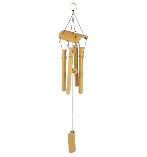 Eco Bamboo Wind Chime Hippyshopper by Bamboo Wind Chime 60cm 257068