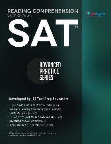 reading comprehension test advanced 9780991388301 sat reading comprehension workbook advanced