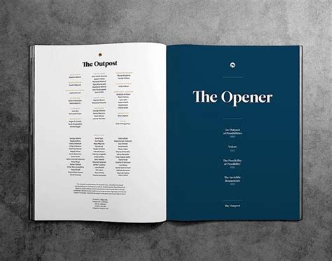 book page layout design inspiration 杂志目录排版设计欣赏