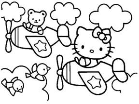printable coloring pages kids free download liz board kitty pictures