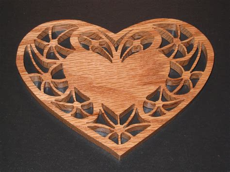 heart pattern for scroll saw scroll saw valentine s heart shaped candle trivet made