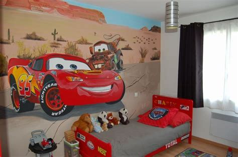 chambre cars disney d 233 co chambre cars