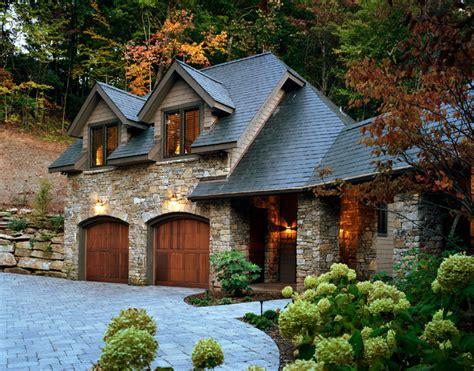 European Stone And Slate Mountain Home Traditional