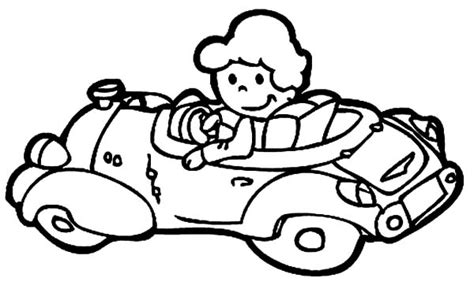 car driving coloring page the girl driving car coloring pages best place to color
