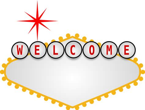 welcome to las vegas sign template blank vegas sign clip at clker vector clip
