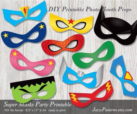 printable super heroes mask diy superhero printable masks photo booth props in comic book