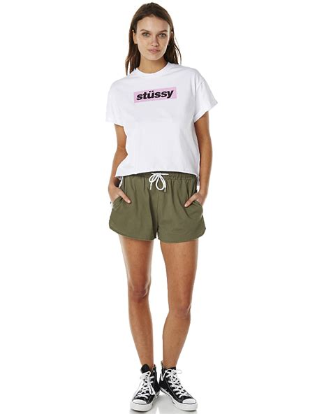 stussy wembley womens jersey khaki surfstitch