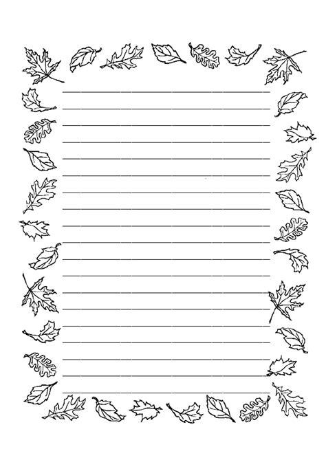 Coloriage Papier à Lettres Avec Des Feuilles