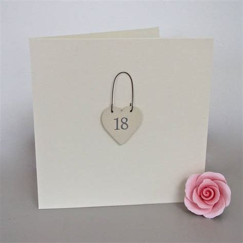 Handmade 18th Birthday Cards - 18th handmade birthday card by chapel cards