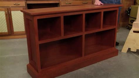 cherry bookcase woodworking project woodsmith plans