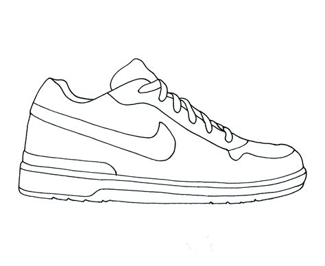 free coloring pages of running shoe