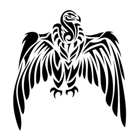 Simple Vulture Tattoo | fototapete tribal geier tattoo wildes tier pixers de