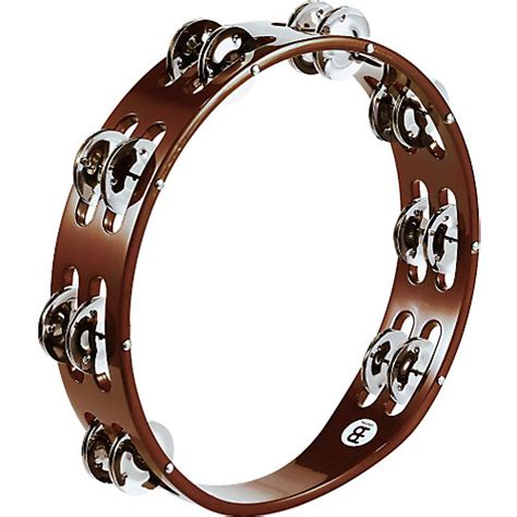 Tambourine Popbytes 2 2 by Meinl Wood Tambourine Two Rows Steel Jingles Musician S
