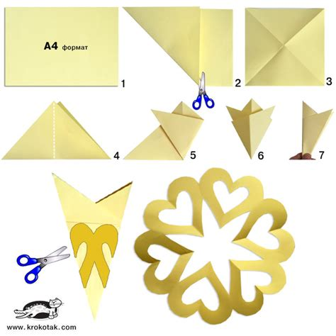Simple Origami Snowflake - krokotak asy collages with templates