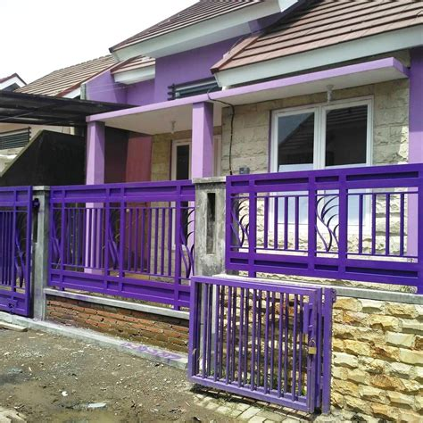 warna pagar rumah minimalis  rumah joglo limasan work