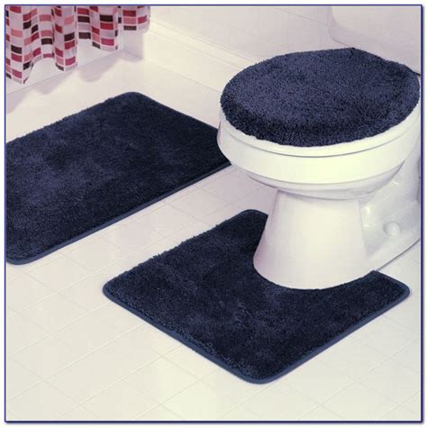 Blue And White Bathroom Rugs Navy Blue Plush Bathroom Rugs Rugs Home Design Ideas 25dojg0ner61429
