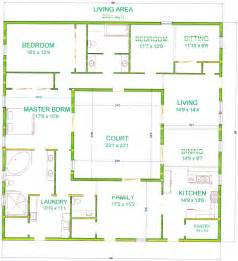 style home plans with courtyard center courtyard house plans with 2831 square this