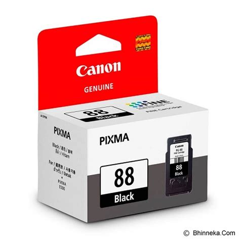 Tinta Printer Canon Pixma E410 Jual Canon Black Ink Cartridge Pg 88 Murah Bhinneka