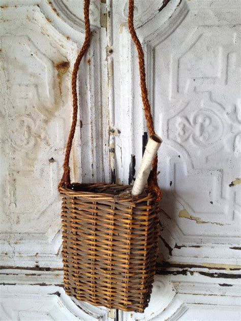 How To Make A Rope Hanging Basket - hanging wicker basket with rope handle
