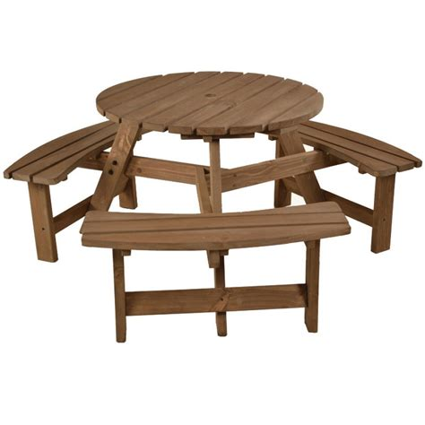 round picnic bench brentwood round picnic table