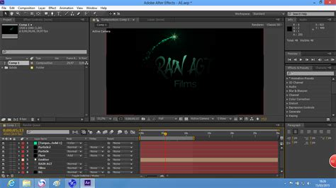 membuat opening video dengan after effect cara membuat opening sederhana di after effects rain agt