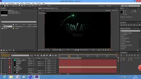 cara membuat opening video dengan after effect cara membuat opening sederhana di after effects rain agt