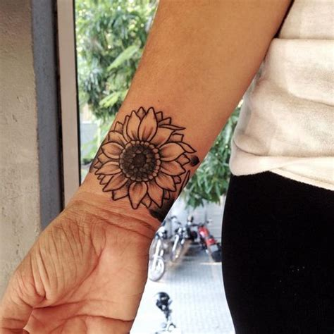 90 black and white sunflowers tattoo design ideas
