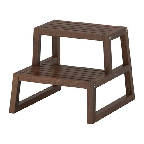 Ikea Step Stool | molger step stool dark brown 16 1 8x17 3 8x13 3 4 quot ikea