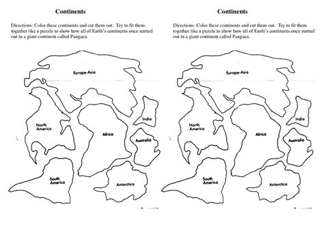 template of the continents 7 continents cut outs printables world map printable continents 7 continents