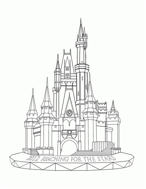 easy cinderella castle coloring coloring pages disney world castle coloring page coloring home