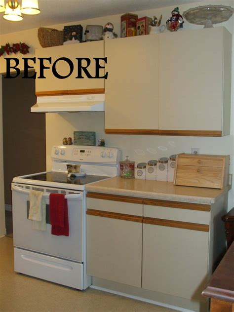 5 diy kitchen cabinet upgrade ideas angie s list simply chic treasures 1980 s melamine cupboard update