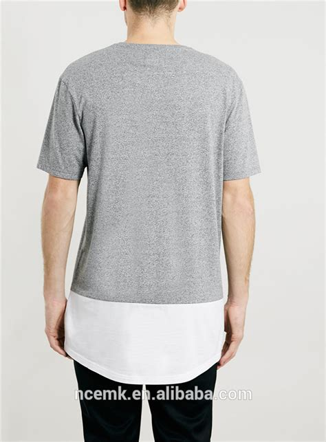T Shirt Combi Colour grey and white combination mens two color t shirt elongated t shirt design buy elongated t