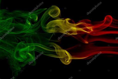 reggae colors smoke background reggae colors green yellow colored