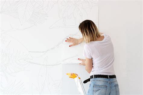 comment poser de la tapisserie diy comment poser un papier peint panoramique fresque