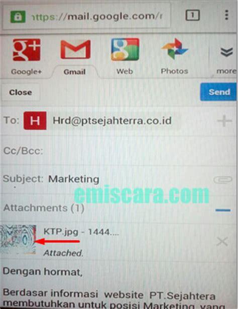 cara mengirim lamaran kerja via email lewat hp emiscara
