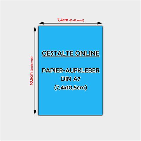 Band Aufkleber Gestalten by Papier Aufkleber Online Gestalten Din A7 7 4 X 10 5cm
