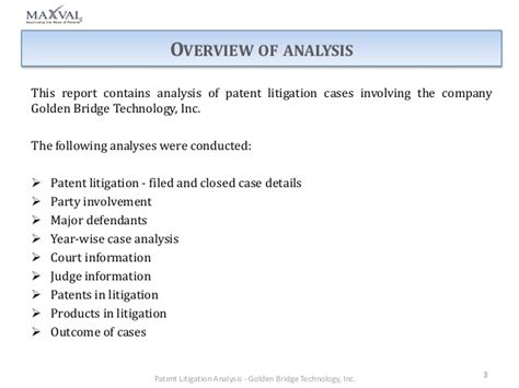 patent litigation analysis for golden technology inc