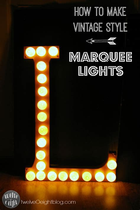 how to make marquee lights paper mache letter copper