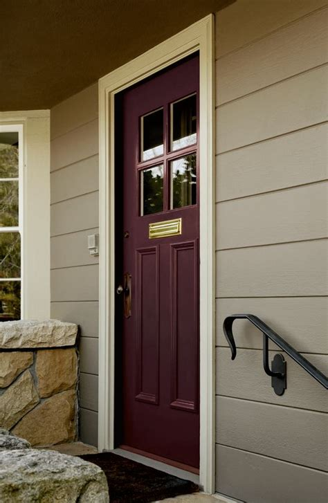 Uplift A Traditional Gray Palette On Exterior Cladding Plum Front Door