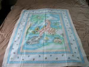 quilt top nursery decor baby animals fabric panel
