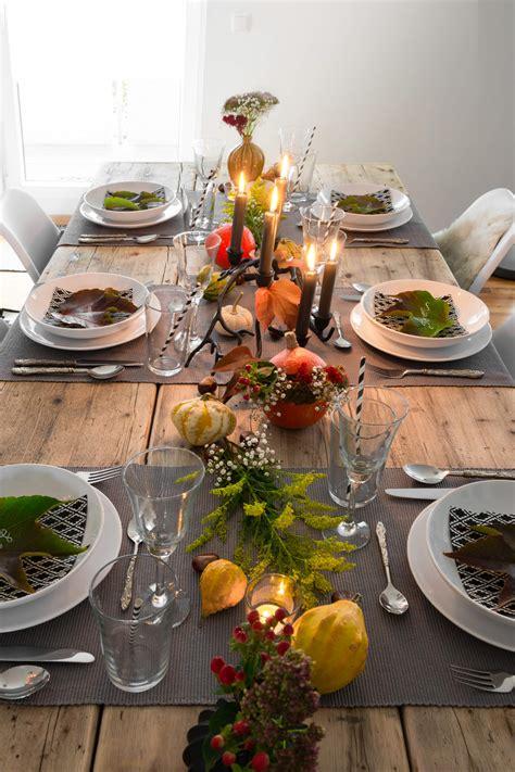 Einfache Herbstdeko Tisch by Herbstliche Tischdeko Einfach G 220 Nstig