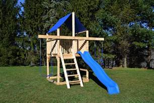 Small Playsets For Small Backyards by Cedar Swing Sets The Bailey Space Saver