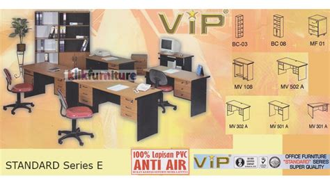 Meja Kantor Toa Bukan Lunar Panel Uno Meja Komputer Meja Laptop set office standard series e vip furniture kantor